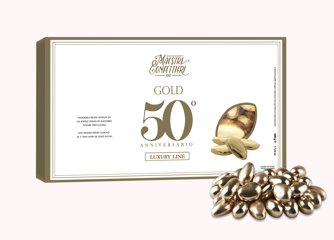 Gold Sugared Almonds